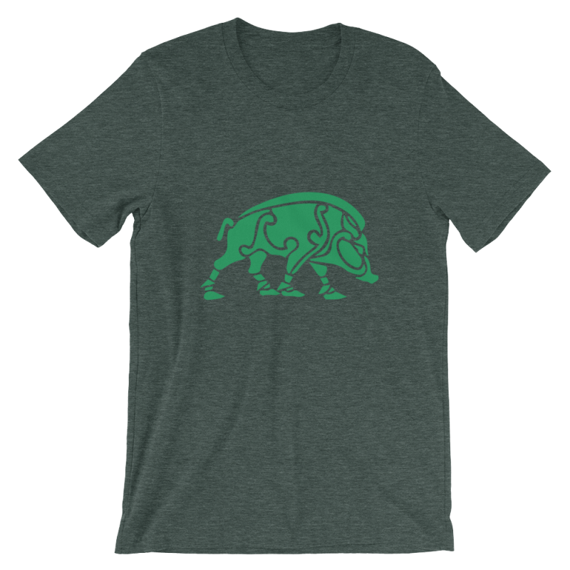 Celtic Boar T-Shirt - Heather Forest / S - Apparel T-Shirts