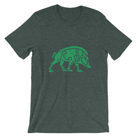 Image of Celtic Boar T-Shirt - Heather Forest / S - Apparel T-Shirts