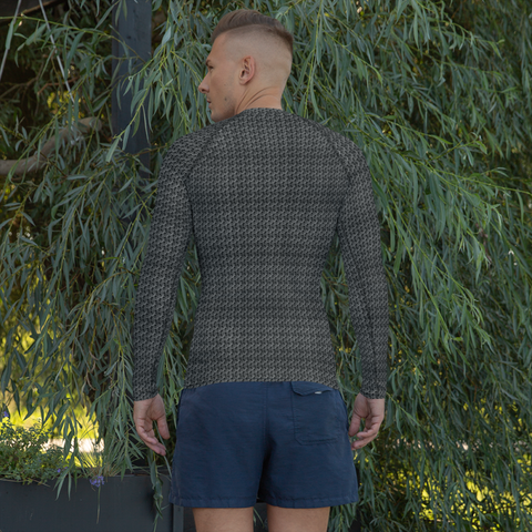 Image of Chain Mail Mens Rash Guard - Apparel