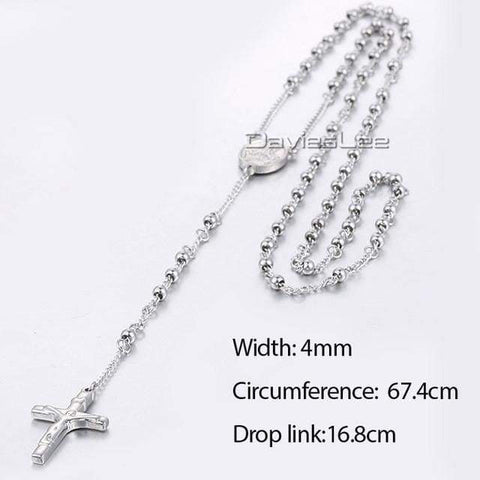 Image of Chain Rosary - Dlkn364 - Chain Necklaces Jewelry Knights Necklace
