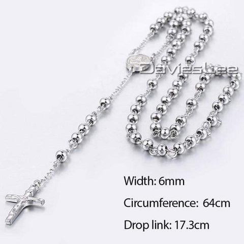 Image of Chain Rosary - Dlkn365 - Chain Necklaces Jewelry Knights Necklace