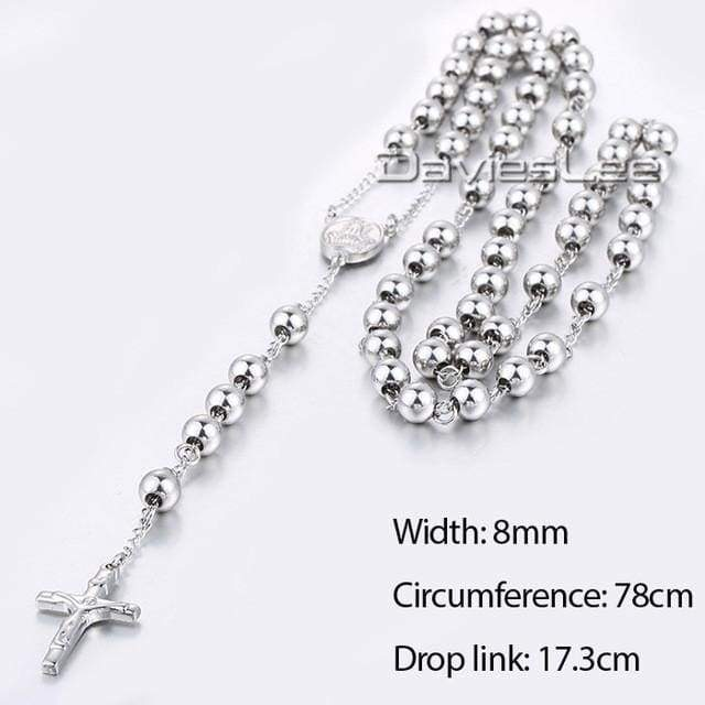 Chain Rosary - Dlkn366 - Chain Necklaces Jewelry Knights Necklace
