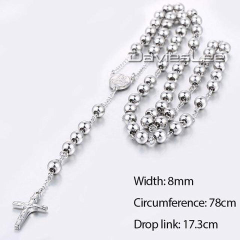 Image of Chain Rosary - Dlkn366 - Chain Necklaces Jewelry Knights Necklace