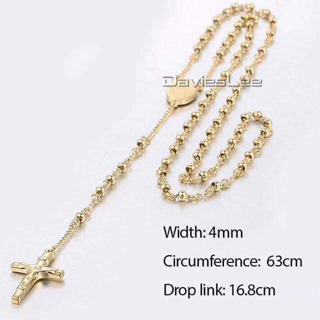 Chain Rosary - Dlkn368 - Chain Necklaces Jewelry Knights Necklace