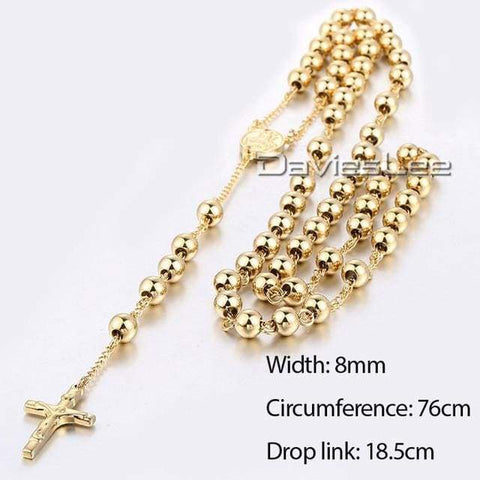 Image of Chain Rosary - Dlkn370 - Chain Necklaces Jewelry Knights Necklace