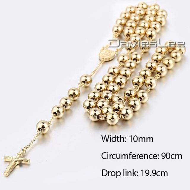 Chain Rosary - Dlkn371 - Chain Necklaces Jewelry Knights Necklace