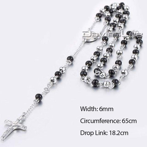 Image of Chain Rosary - Dlkn380 - Chain Necklaces Jewelry Knights Necklace