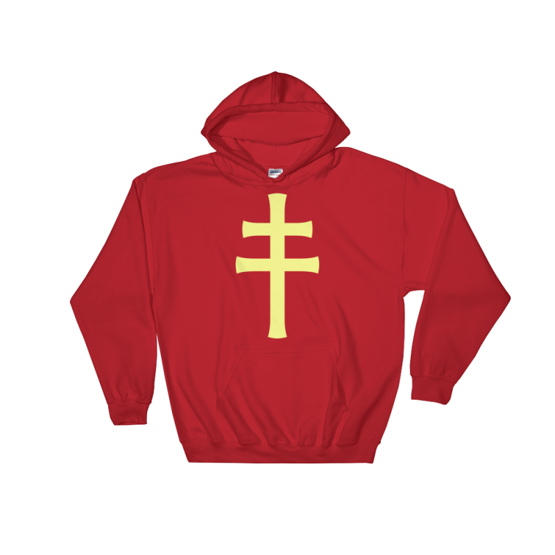 Cross Of Lorraine Hoodie - S - Apparel Hoodies