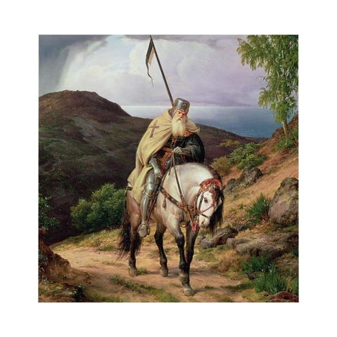Image of Crusader Returning Home Microfiber Duvet Cover - Home Decor All Over Print Blankets Home & Living Queen Twin