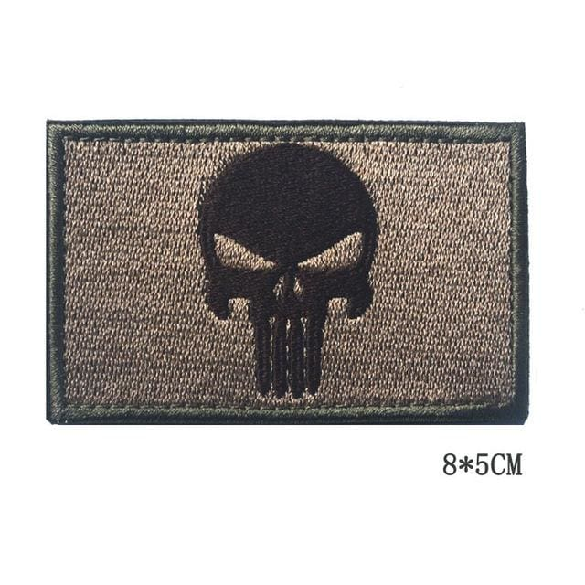 Dont Tread On Me Assorted Patches - Skull Brown - Patches Patches