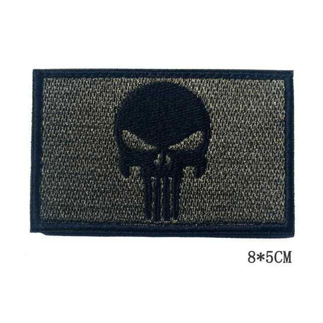 Dont Tread On Me Assorted Patches - Skull Green - Patches Patches