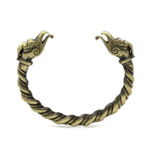 Image of Dragon Bracelet - Antique Bronze Plated - Bracelet Vikings