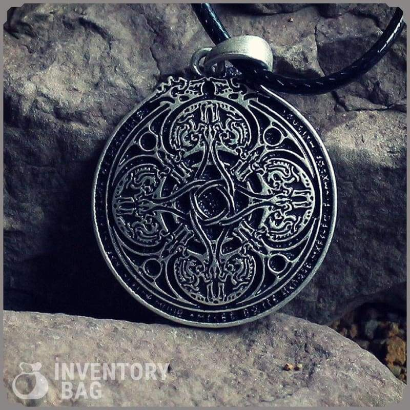 Dragon Runic Pendant - Viking Necklace Jewelry Necklace Vikings