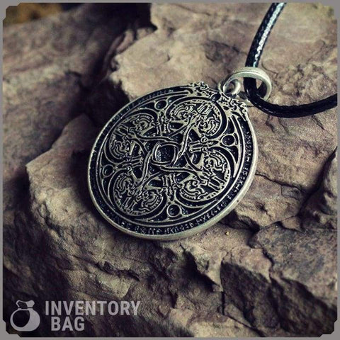 Image of Dragon Runic Pendant - Viking Necklace Jewelry Necklace Vikings