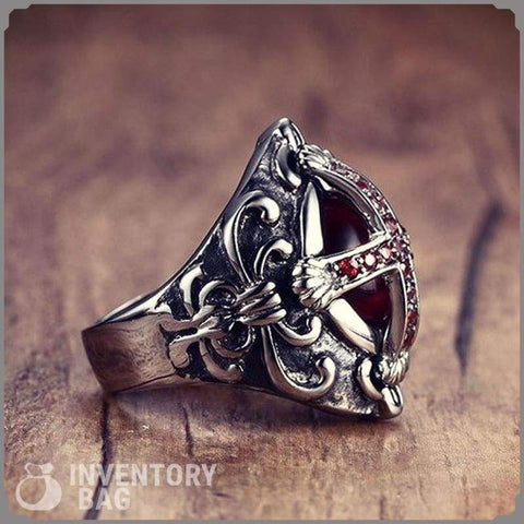 End Time Cross Ring - Ring Jewelry Knights Rings