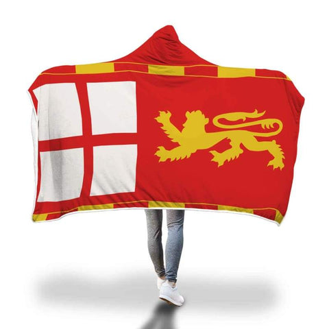 Image of English Medieval Banner Hooded Blanket - Hooded Blanket Blankets Hooded Blankets