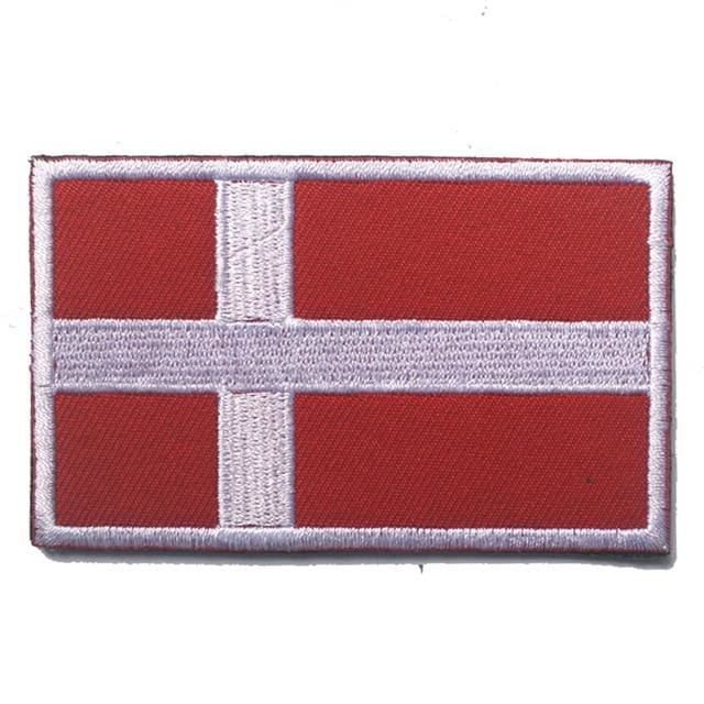 European Flag Tactical Patches - Denmark - Patches Patches