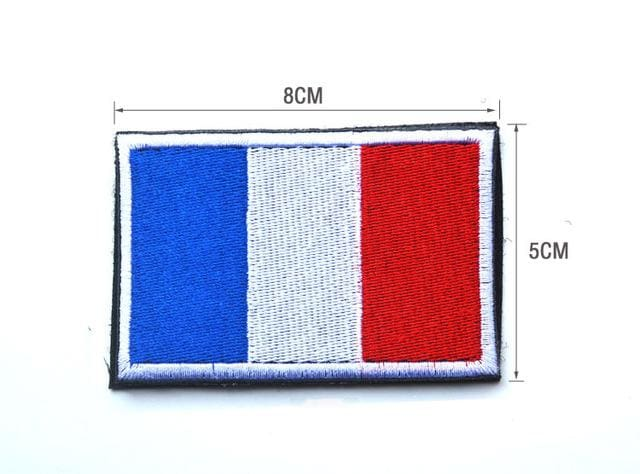 European Flag Tactical Patches - France - Patches Patches
