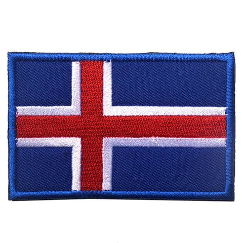 European Flag Tactical Patches - Iceland - Patches Patches