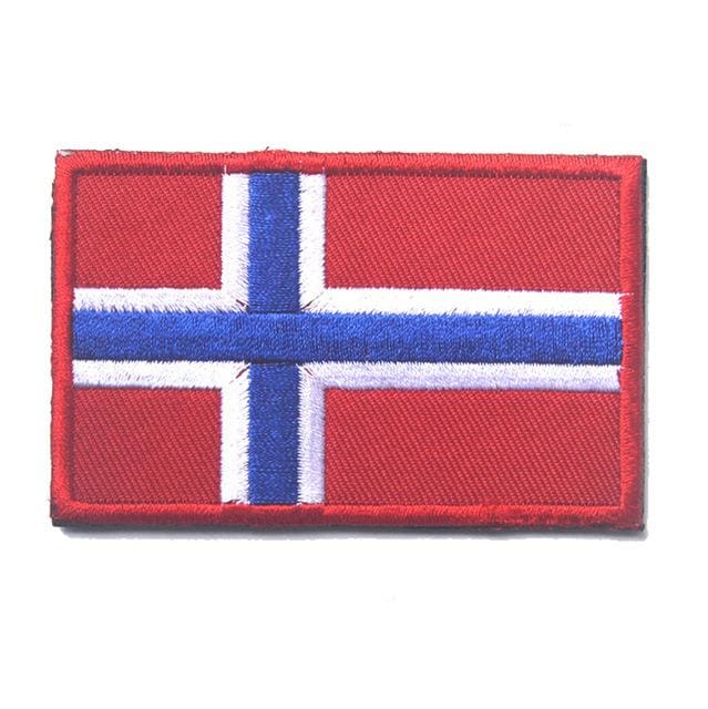 European Flag Tactical Patches - Norway - Patches Patches