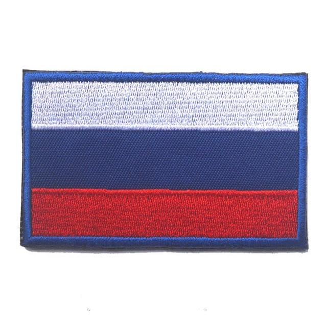 European Flag Tactical Patches - Russia - Patches Patches