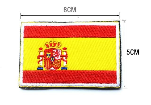 European Flag Tactical Patches - Spain - Patches Patches