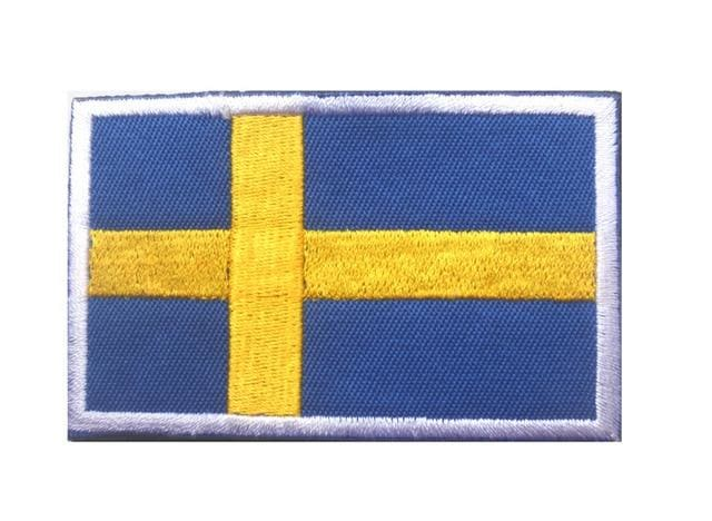 European Flag Tactical Patches - Sweden White - Patches Patches