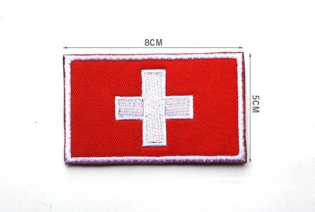 European Flag Tactical Patches - Switzerland - Patches Patches