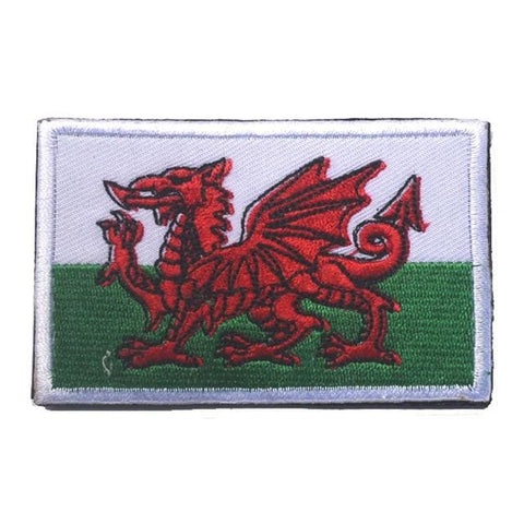European Flag Tactical Patches - Wales - Patches Patches