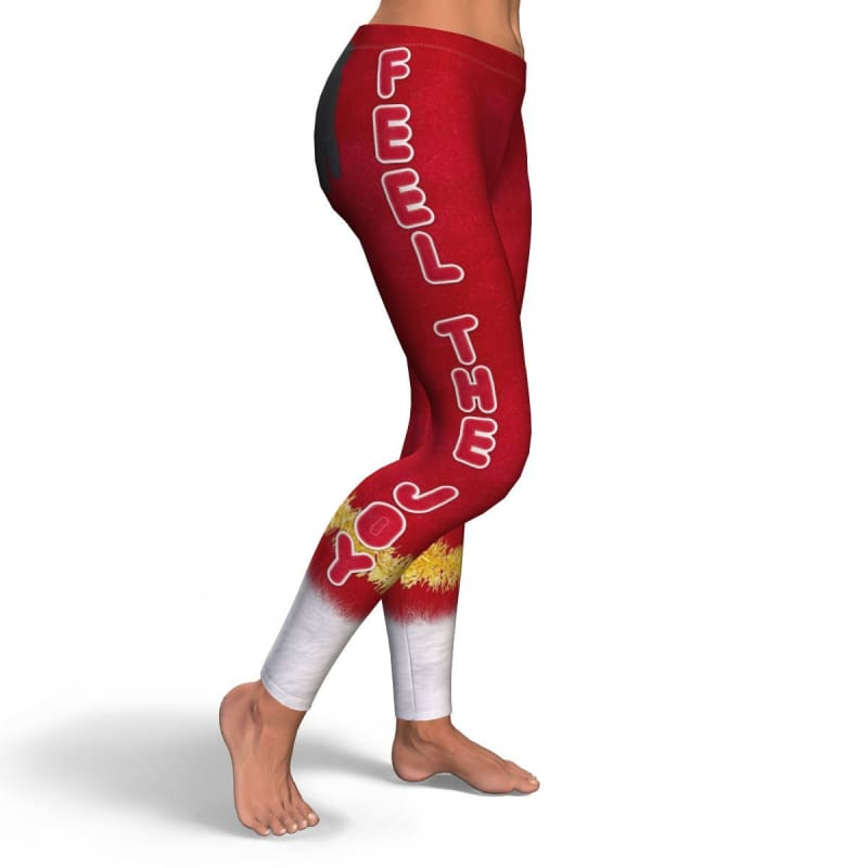 Feel The Joy Leggings - Leggings Christmas