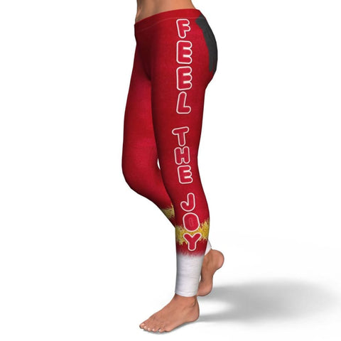 Image of Feel The Joy Leggings - Leggings Christmas