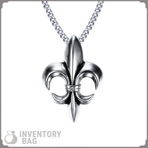 Fleur De Lis Floral - Jewelry Knights Necklace