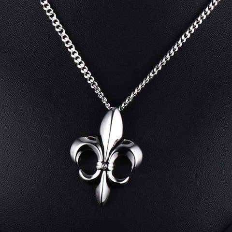 Image of Fleur De Lis Floral - Jewelry Knights Necklace