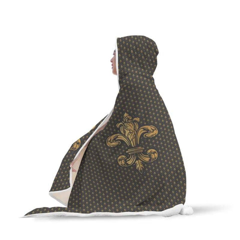 Fleur De Lis Hooded Blanket - Hooded Blanket Blankets Hooded Blankets
