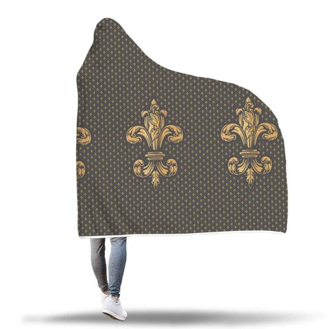 Image of Fleur De Lis Hooded Blanket - Hooded Blanket Blankets Hooded Blankets