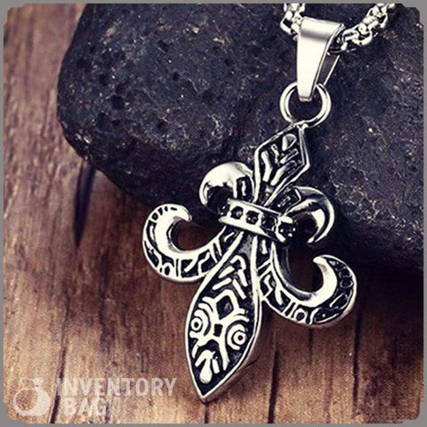 Image of Fleur De Lis Necklace - Pendant Necklaces Jewelry Knights Necklace