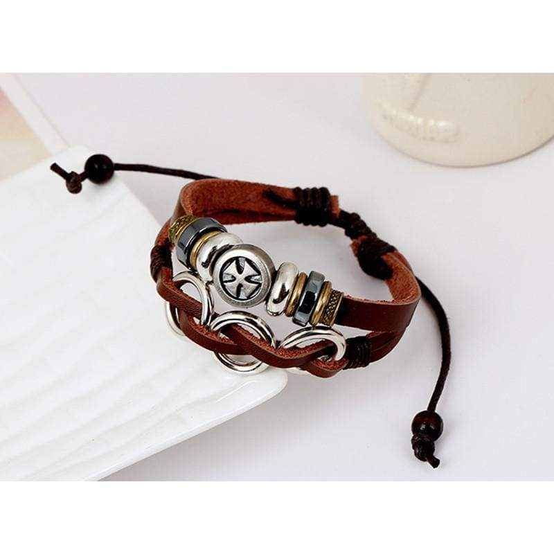 Genuine Leather Bracelet - Charm Bracelets Knights