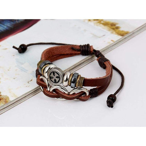 Image of Genuine Leather Bracelet - Charm Bracelets Knights