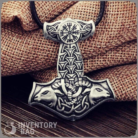 Image of Goat Knot Thors Hammer - Viking Necklace Jewelry Necklace Vikings