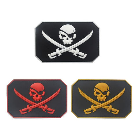 Jolly Roger Flag Pvc Patches - Patches Patches Pvc