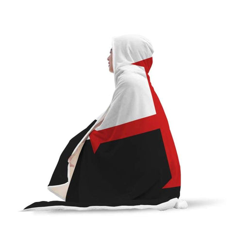 Image of Knights Templar Hooded Blanket - Hooded Blanket Blankets Hooded Blankets