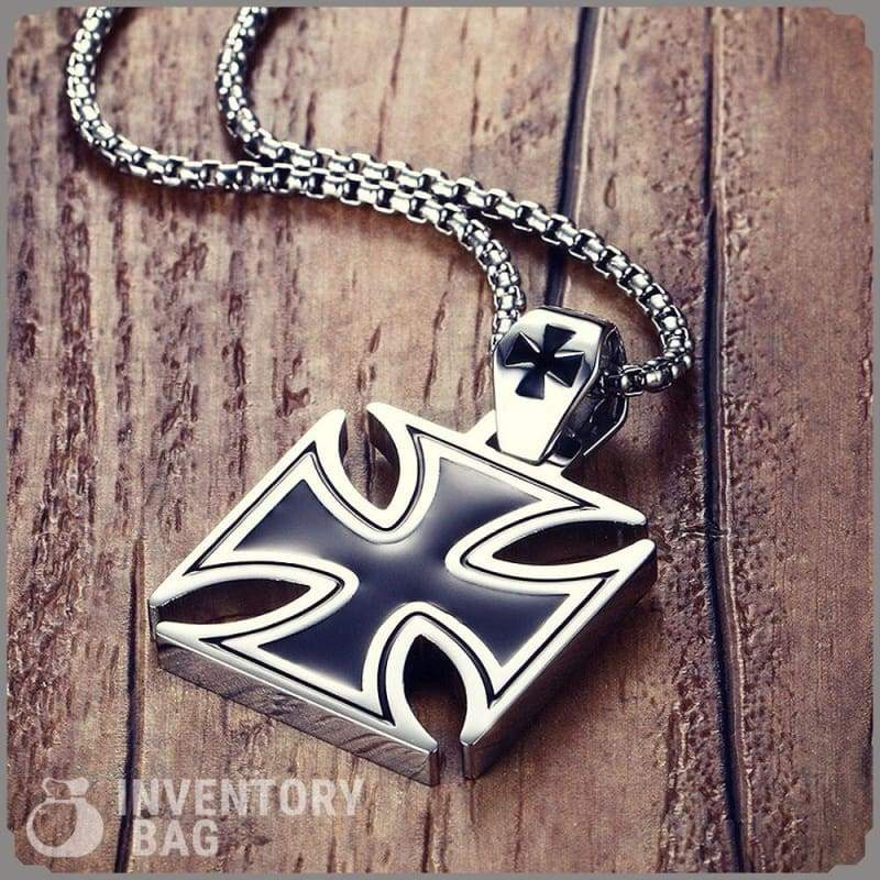 Knights Templar Iron Cross - Pendant Necklaces Jewelry Knights Necklace