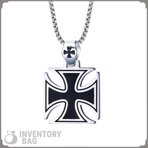 Image of Knights Templar Iron Cross - Pendant Necklaces Jewelry Knights Necklace