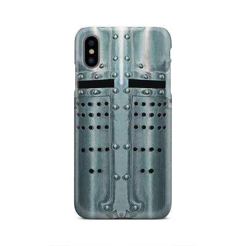 Crusader Templar Helmet - Great Helm Phone Case