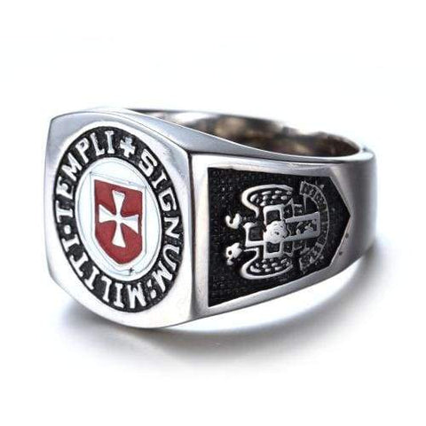 Image of Masonic Templar Ring - Rings Jewelry Knights Rings