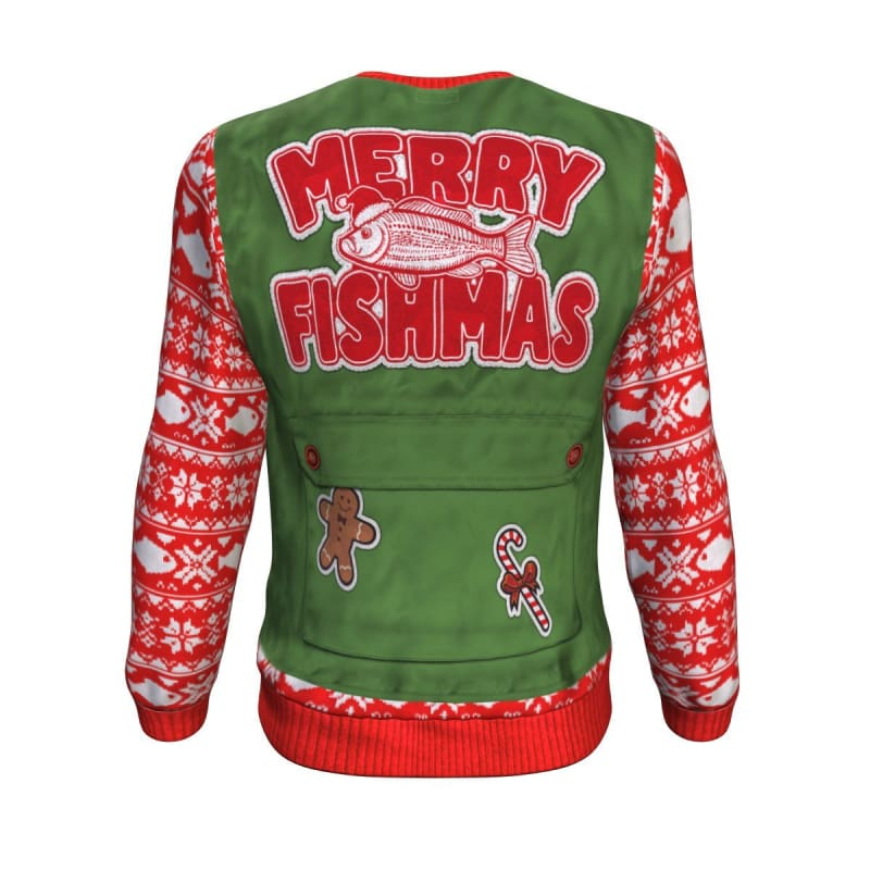Merry Fishmas Sweatshirt - Sweatshirt Christmas