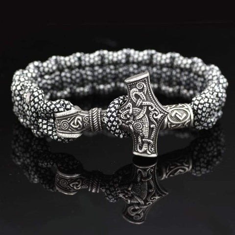 Mjolnir White/black Paracord - Bracelet Vikings