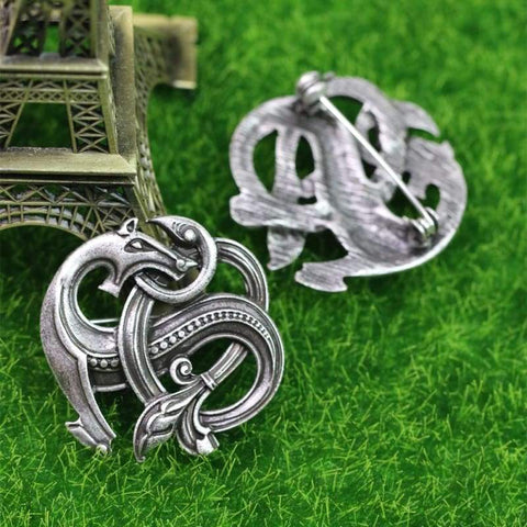 Nordic Dragon Brooch - Brooches Viking