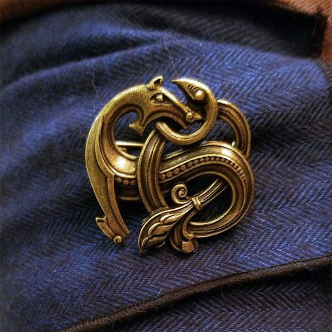 Image of Nordic Dragon Brooch - Brooches Viking