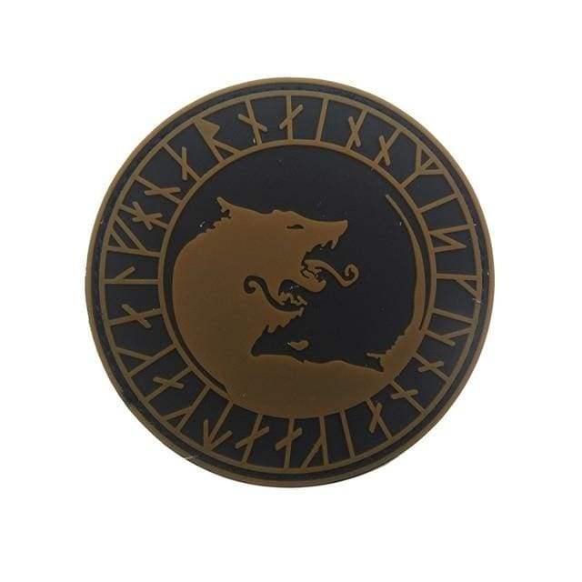 Norse Fenrir Pvc Patches - Brown Not Glow - Patches Patches Pvc